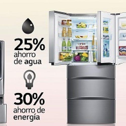 Línea blanca reduce consumo de agua y energía