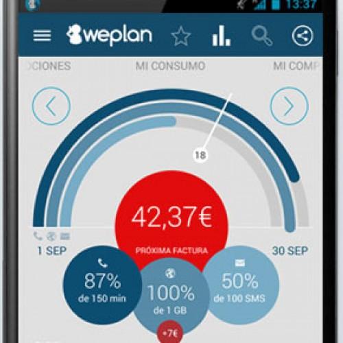 Weplan: control del consumo de datos, voz  y sms en tu móvil