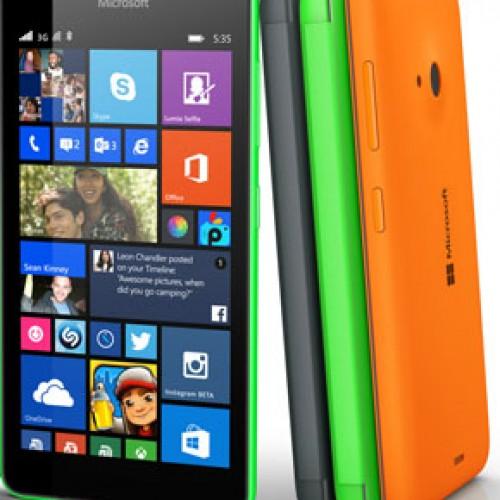 Lumia 535 características juveniles y colorido diseño